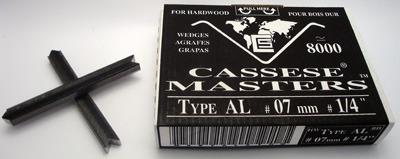 S11 - Klamry AL 7mm  do twardego drewna firmy Cassese