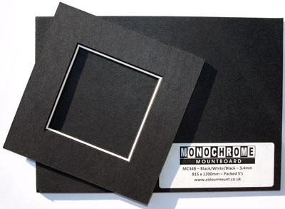 Karton dekoracyjny Colourmount Monochrome Black/White/Black - 2.8 mm