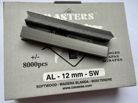 S13SW - Klamry AL 12mm  do miękkiego drewna firmy Cassese