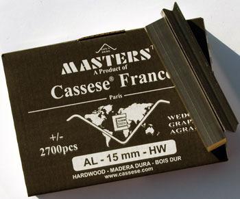 S14XS - Klamry AL 15mm  do twardego drewna firmy Cassese