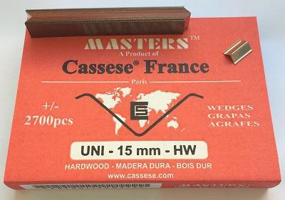 S28XS - Klamry UNI 15 mm do twardego drewna firmy Cassese