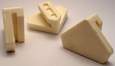 S40 - Guma trójkątna biała Z1813